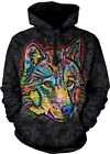 Happy Wolf Adult Animal Hoodie The Mountain
