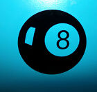 8 Ball Vinyl Decal Sticker - Different Sizes & Colors - Pool Billiards Table $5.0 USD on eBay