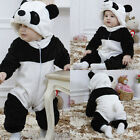 Baby Boy Girl Kids Warm Winter Panda Animal Overall Thicken Romper Clothes