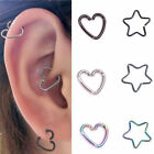 Chirurgenstahl Herz Ring Piercing Band Ohrring Helix Knorpel Tragus Daith