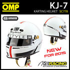 SALE! SC778 OMP KJ-7 KJ7 KART FULL FACE HELMET KARTING SNELL FIA CMR APPROVED