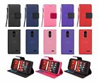 For ZTE Grand X 4 / X4 Z956 Leather Wallet Flip Case Cover w Card Holder & Strap