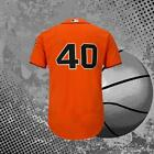 Madison Bumgarner 40# San Francisco Giants Baseball Jersey Orange
