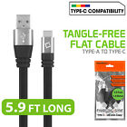 Heavy Duty Tangle-Free USB-A to USB-C Charging Sync Data Cable 5.9 FT TYPE C