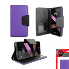 For LG Tribute HD LS676/ LG X Style Leather Wallet Flip Folio Stand Case Cover