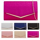 SUEDE DIAMANTE ENVELOPE  EVENING PUB WEDDING BRIDAL CLUTCH HANDBAGS