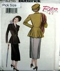 Butterick Sewing Pattern 6256 Ladies Retro 40s War Years Vamp Suit Pick Size
