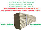 SINGLE REPLACEMENT SPRUNG BED SLAT CHOICE OF SIZES AND QUANTITY BRAND NEW