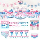 Gender Reveal Baby Shower Party Supplies Plates Cups Napkins Invites Decoration