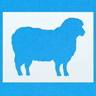 Sheep Two Farm Animal Mylar Painting Wall Art Stencil Home Decor DIY Art Crafts