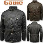 MENS GAME SPEEDWAY QUILTED WAX JACKET BIKER COUNTRY SHOOTING COAT HUNTING