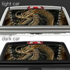 Golden Dragon Mural Perforated Vinyl Decal Rear Window Car N579 FRST