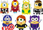 STICKER WALL DECO OR IRON ON TRANSFER MINION MARVEL AVENGERS IRON MAN lot MH