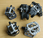 Bike Pedals Pedal Peddles Metal Cage Alloy Body MTB Road Mountain Flat/Platform