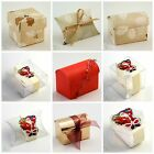 Novelty DIY Father Christmas Foglie Holly Leaves Table Party Favour Gift Boxes