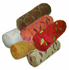 wh+6 Colors Plant Leaf Thick Cotton Bolster Yoga Cushion Cover Custom Size