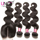 UNice Brazilian Body Wave Human Hair 3 Bundles With lace Closure Hair Extensions