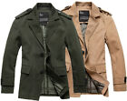 NWT Mens Military Jacket Blazer Coat Utility Officer's Outwear Classic Vintage