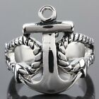 Gothic Punk Superman Mask Biker Motorcycle Stainless Steel Finger Ring Jewelry