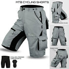 MTB Cycling Short Off Road Cycle CoolMax Padded Liner Shorts Grey Size STo XXL