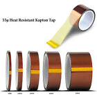 5/10/15/20/25/ 50mm 100ft High Temperature Heat Resistant Polyimide Kapton Tape