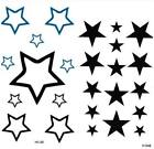 Temporary Tattoo Stars sticker Removable Fake Waterproof Body Art
