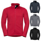 New RUSSELL Mens Casual Smart Everyday Softshell Fleece Jacket 4 Colours XS-3XL