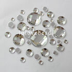 Clear Flatback Rhinestone Acrylic Diamond Round Gems 6-30mm Scrapbook DIY Craft