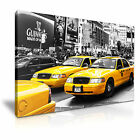 NEW YORK Manhattan Yellow Cab Taxi Canvas Framed Print 15 ~ More Size