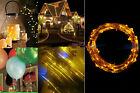 20-100Led Battery Powered Copper Wire String Fairy Party Lights Xmas Decor 2-10M