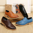Men's leather lace up wingtip Brogues pointed toe business dress Formal Shoes