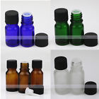 1~50X 1/3oz Glass Amber Green Euro Dropper Bottles for Essential Oils 5ml 10ml