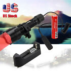 Tactical 5000lm C8 GREEN/RED LED Hunting Flashlight Rifle Picatinny Mount+Switch
