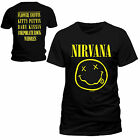 Adults Official Licensed Nirvana T Shirt Grunge Punk Rock Band Smiley Top Tee