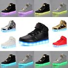 Unisex 7-Color LED Light Luminous USB Athletic Sneakers Casual Sportswear Shoes