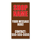 mobile phone shop names - Shop Name Your Message Here Phone Number  DECAL STICKER Retail Store Sign