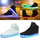 Fashion Couples Women Men LED Light Up Trainer Lace Up Luminous Shoes Sneakers