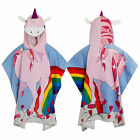 Nifty Kids Soft Cotton Unicorn Hooded Poncho Towel Childrens Bath & Beach Wear