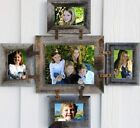 """Reclaimed Barn Wood Family Collage Rustic Picture Frame 1- 8"""" x 10"""" 4 - 4 """"x 6"""""""