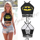 Sexy Batman Pokemon Strappy Crop Top Camisole Blouses Bustier Bra Vest Tank Tops