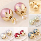 Pearl Earrings Crystal Earring Ear Stud Rhinestone Fashion New Girls Women