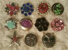 18 mm snap button Noosa rhinestone charm