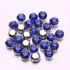 Sapphire  144PCS faceted Sew on Rhinestone Metals Claws for Dress Making Garment