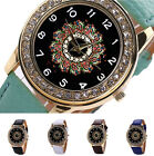 NEW Fashion Women Leather Band Stainless Steel Quartz Analog Wrist Watch