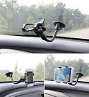 360 Soft Tube Windscreen In Car Mount Holder Cradle For Samsung Galaxy Phones
