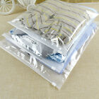 Clear Matte Plastic Packaging Zipper Bags Reclosable For Clothes Underwear