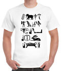 Egyptian Hieroglyphs T-shirt Egypt Sacred Writing Pharoah Pyramids