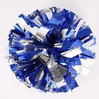 US STOCK 1 Pair Blue and Silver Cheerleading Pom Poms Party Cheerleader Costume