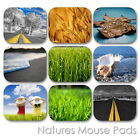 NATURE LAND FOREST WATERFALL EARTH VIEW CUSTOM MOUSE PAD MOUSEPAD  (LM-03)