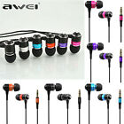 Awei Q3 Bass Headset Stereo Headphone Earphone Earbuds In-ear For iPhone Samsung